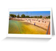 river beach. belém tower Greeting Card