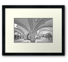 tower arches. Framed Print