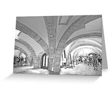 tower arches. Greeting Card
