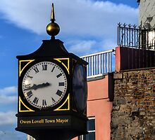 Town Clock At Lyme Dorset UK by lynn carter