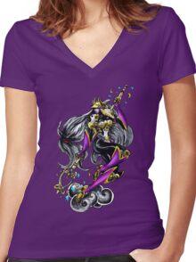 Sakuyamon - Digimon inspired art Women's Fitted V-Neck T-Shirt