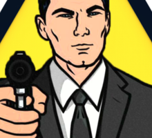 Danger Zone - Archer Sticker