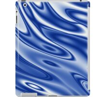 Blue waves pattern iPad Case/Skin