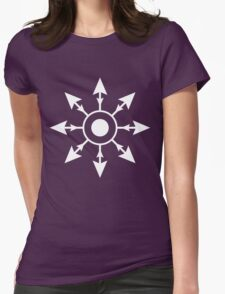 Chaos Wheel Womens Fitted T-Shirt