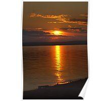 Slave Lake Sunset Poster