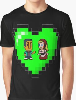 Love in 8-bit: Abed and Hilda (style B) Graphic T-Shirt