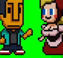 Love in 8-bit: Abed and Hilda (style B) Sticker