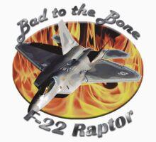 F-22 Raptor Bad To The Bone Kids Tee