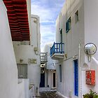 Streets of Mykonos by Tom Gomez