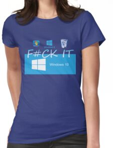 Windows 10 Funny Womens Fitted T-Shirt