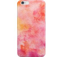Hand drawn yellow, orange, magenta watercolor iPhone Case/Skin
