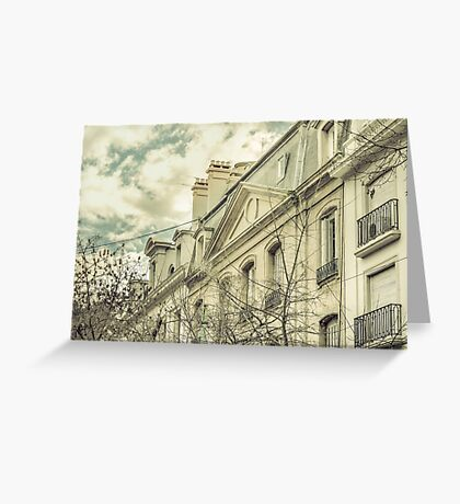 Neoclassical Style Buildings in Buenos Aires, Argentina Greeting Card