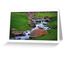 Golf Course Brook Greeting Card