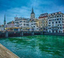 Zurich on the Limatt by anorth7
