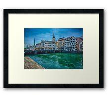 Zurich on the Limatt Framed Print