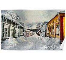 Naantali Old Town in Winter Poster