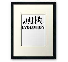 Skiing Evolution Framed Print