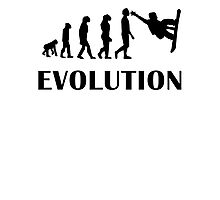 Snowboarding Evolution Photographic Print