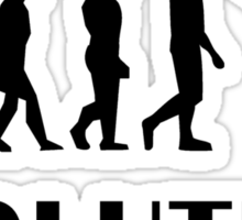 Snowboarding Evolution Sticker