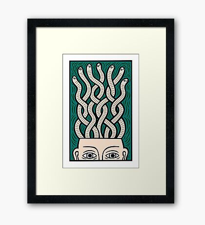 My brains Framed Print