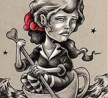 Woman in a Tea Cup by Bryan Collins
