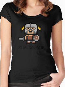 8 Bit Dovahkiin Women's Fitted Scoop T-Shirt