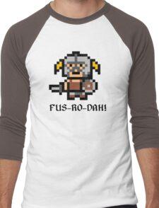 8 Bit Dovahkiin Men's Baseball ¾ T-Shirt