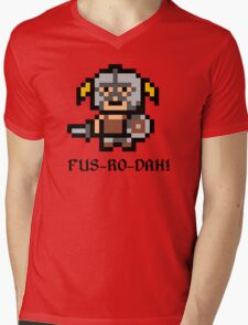 8 Bit Dovahkiin Mens V-Neck T-Shirt