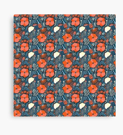 Summer field colorful pattern Canvas Print