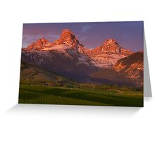 Teton Valley Sunset Greeting Card