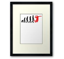 Volleyball Evolution Framed Print