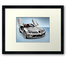 Mercedes Benz SLR McLaren sports car art photo print Framed Print