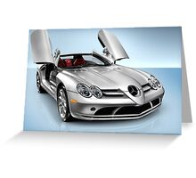 Mercedes Benz SLR McLaren sports car art photo print Greeting Card