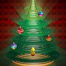 spiral xmas tree by sarandis