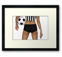Sexy Soccer Referee Butt art photo print Framed Print