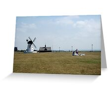 Picnic Time by the Windmill. Greeting Card