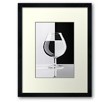Glass in Black and White art photo print Framed Print