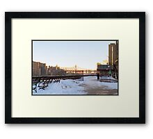 East River in the Winter - NYC, NY Framed Print