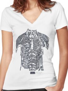 LINE : The Contrainer Women's Fitted V-Neck T-Shirt