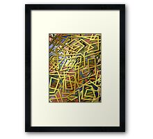 Labyrinths Of Mind Framed Print