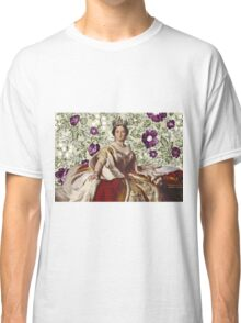 Queen Victoria - White Floral Classic T-Shirt
