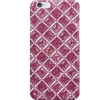 Girly Pink Faux Glitter Diamond Pattern iPhone Case/Skin