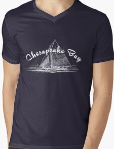 Chesapeake Bay Sailboat Mens V-Neck T-Shirt