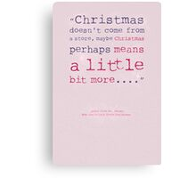 Dr Seuss Christmas Greeting Card Canvas Print