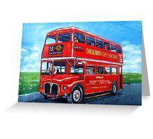 Double Decker London Bus Greeting Card