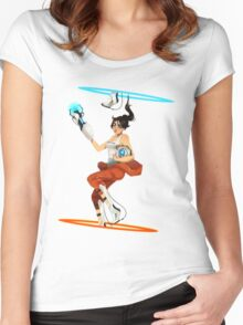 Portal 2 fanart  Women's Fitted Scoop T-Shirt