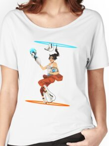 Portal 2 fanart  Women's Relaxed Fit T-Shirt