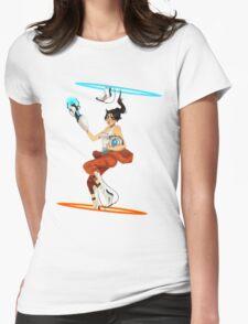 Portal 2 fanart  Womens Fitted T-Shirt