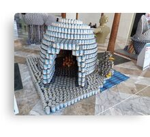 Canstruction, Igloo, Sculpture Made of Food Cans, World Financial Center, New York City Canvas Print