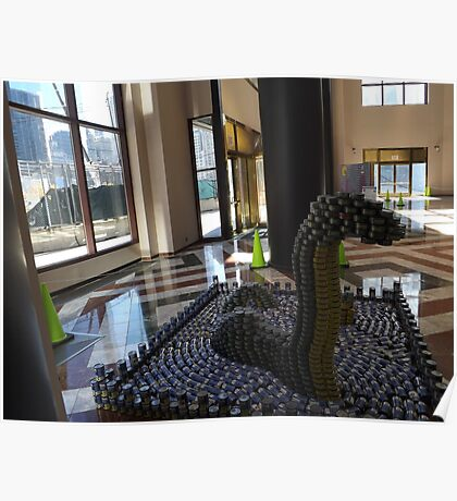 Canstruction, LoCANness Monster, Sculpture Made of Food Cans, World Financial Center, New York City Poster